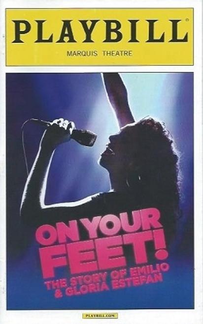 On Your Feet, Playbill Oct 2013, Ana Villafañe -Josh Segarra PlaybillOct2015, On Your Feet Memorabilia, On Your Feet Playbills