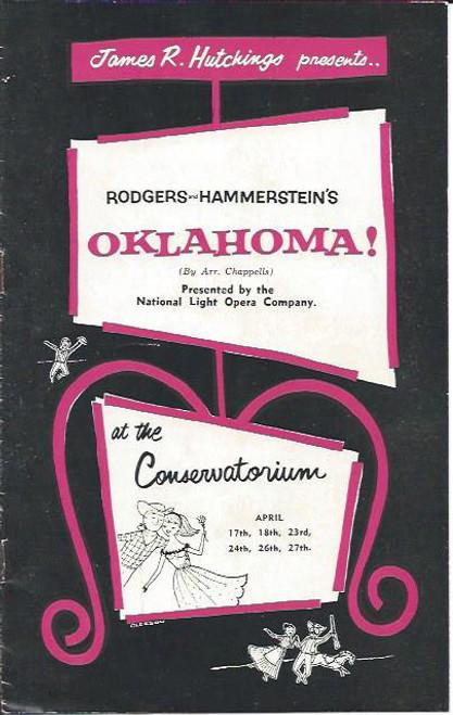 Oklahoma (Musical) Mary Branagan, Geoff Horner, Terry OKeefe, Australian Production Sydney Season Souvenir Program 1950's, at The Conservatorium Sydney