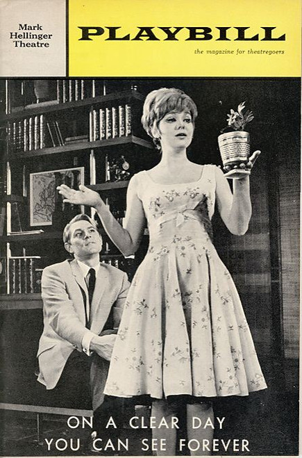 On a Clear Day You Can See Forever (Musical), Barbara Harris, John Cullum, Tito Vandis, William Daniels, Mark Hellinger Theatre