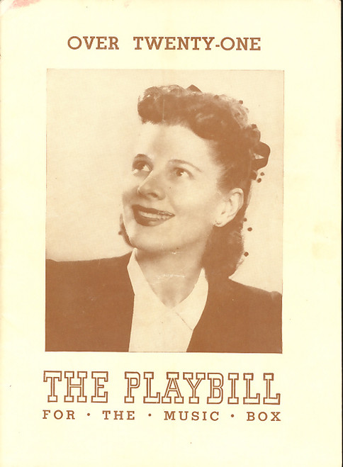 Over Twenty-One (Play), Ruth Gordon, Beatrice Pearson, Tom Seidel, Harvey Stephens - 1944 Broadway Production, Broadway Memorabilia
