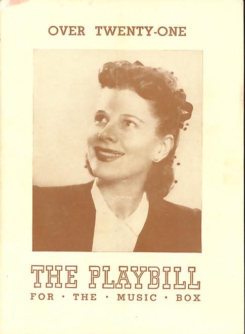 Over Twenty-One (Play), Ruth Gordon, Beatrice Pearson, Tom Seidel, Harvey Stephens - 1944 Broadway Production, Broadway Memorabilia