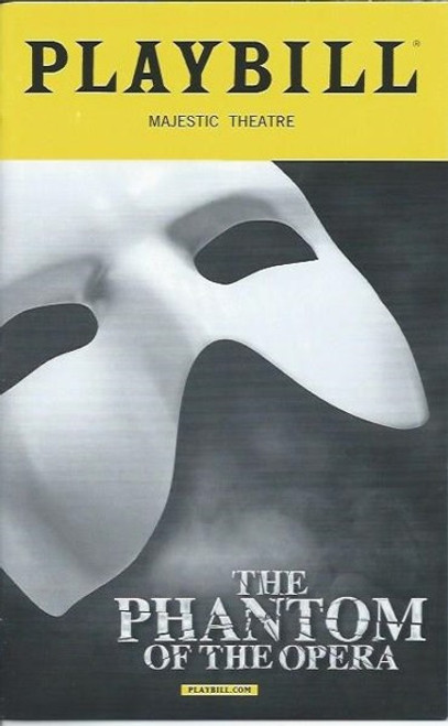 Phantom of the Opera, Broadway Playbill Sept2016, James Barbour,  Ali Ewoldt, Jordan Donica, phantom memorabilia