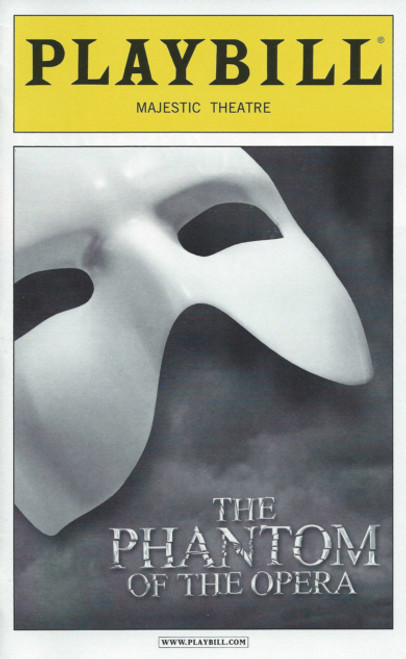 Phantom of the Opera (Oct 2012)  Playbill Hugh Panaro, Trista Moldovan, Kyle Barisich– Majestic Theatre