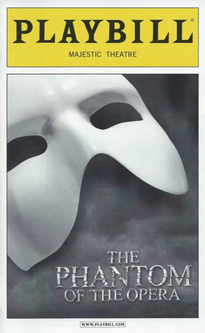 Phantom of the Opera (Oct 2012)  Playbill Hugh Panaro, Trista Moldovan, Kyle Barisich– Majestic Theatre
