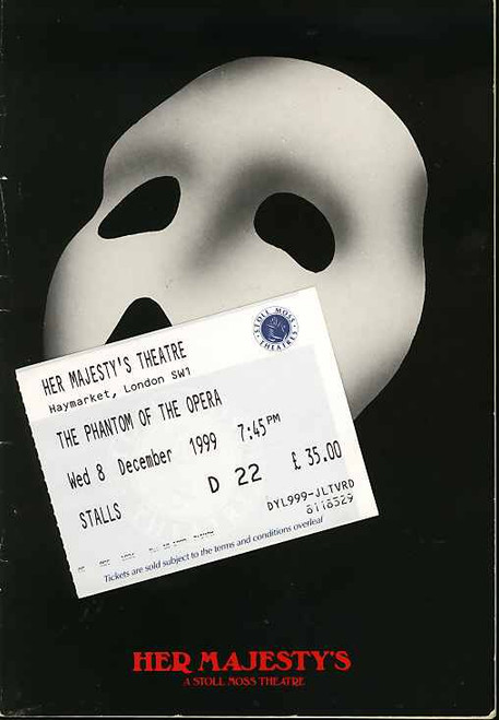 Phantom of the Opera (Musical), Scott Davies, Charlotte Page, Matthew Cammelle, Paul Brodene-Smith - 1999 London Production