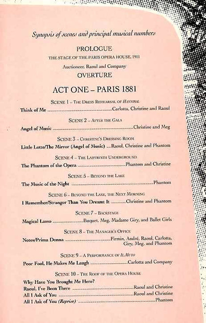 Phantom of the Opera (Musical), Glyn Kerslake, Jill Washington, Mike Sterling, Leo Andrew - 1998 London Production, London Theatre