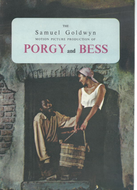 Porgy and Bess (Movie), Souvenir Brochure 1959, Samuel Goldwyn Company, Sidney Poitier, Dorothy Dandridge, Sammy David jr, Pearl Bailey, Brock Peters, Leslie Scott, Diahann Carroll, Ruth Attaway, Clarence Muse, Everdinne Wilson, Joel Fluellen