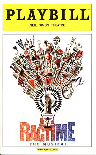 Ragtime (Musical), book by Terrence McNally, lyrics by Lynn Ahrens, music by Stephen Flaherty, Neil Simon Theatre