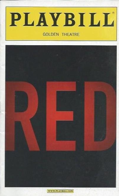 Red, by John Logan, Playbill April 2010 Broadway, Alfred Molina, Eddie Redmayne, red playbill, broadway memorabilia