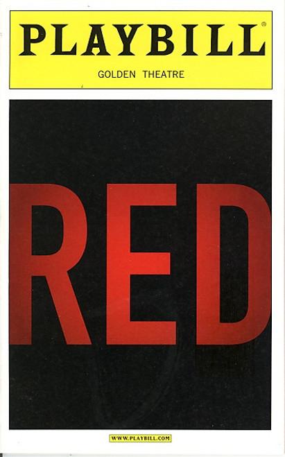 Red (Play), play by John Logan - Alfred Molina, Eddie Redmayne, Golden Theatre, red playbill, broadway memorabilia