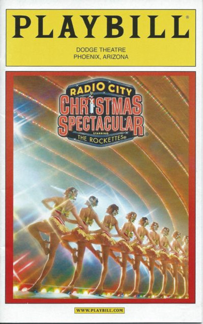 Radio City Christmas Spectacular Nov 2007  (Musical)John Sloman, Kate Chapman,Matt Kubicek,Alison Rose - Broadway In Arizona Playbill / Program