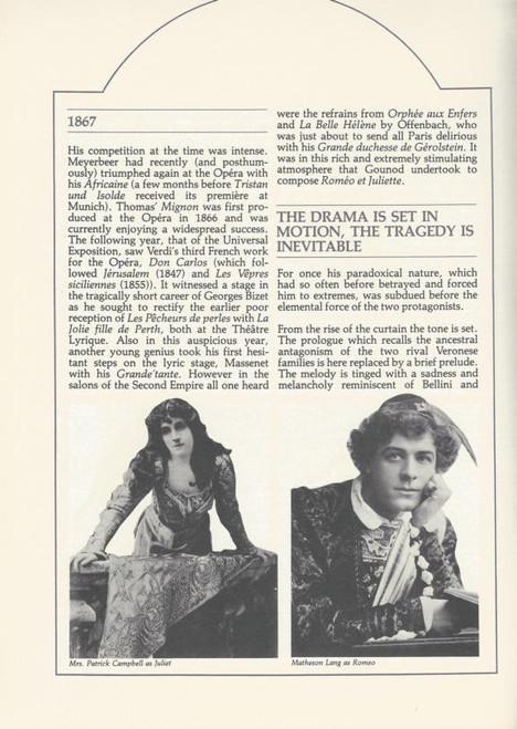 Romeo and Juliet (Opera) Anthony Warlow, Bruce Martin, Glenys Fowles Souvenir Brochure Australian Opera 1983 Sydney Opera House
