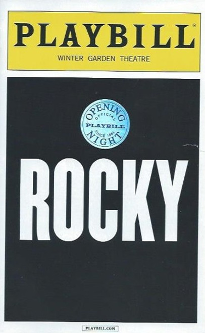 Rocky on Broadway, Opening Night Playbill 2014, Andy Karl, Margo Seibert, Terence Archie, Broadway Memorabilia, Andy Karl Memorabilia