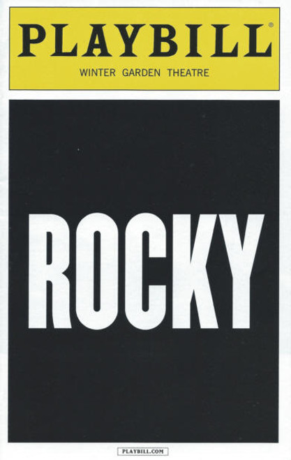 Rocky on Broadway ( August 2014), Andy Karl, Margo Seibert, Terence Archie, Rocky Memorabilia, Andy Karl Memorabilia, Broadway Playbills