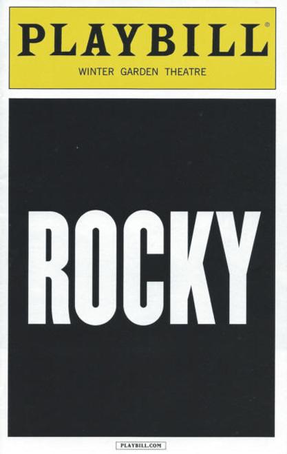 Rocky on Broadway ( August 2014), Andy Karl, Margo Seibert, Terence Archie, Rocky Memorabilia, Andy Karl Memorabilia, Broadway Playbills