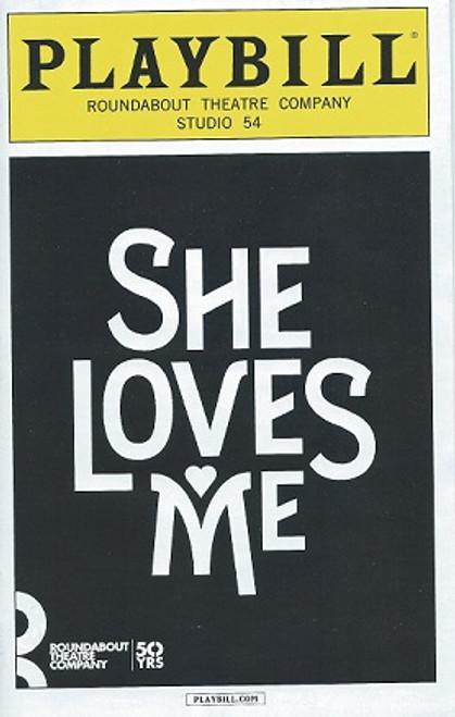 She Loves Me, Laura Benanti, Gavin Creel, Byron Jennings, Jane Krakowski, Zachary Levi, Playbill / Program March 2016 Studio 54