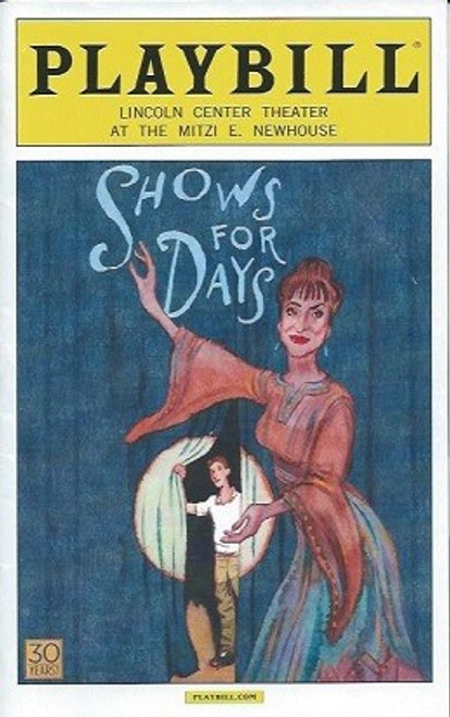 Shows for Days, Patti Lupone, Dale Soules, Michael Urie, Playbill, Program  July 2015, Jordan Dean, Patti Lupone, Dale Soules, Michael Urie, Lance Coadie, Zoe Winters