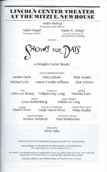 Shows for Days, Patti Lupone, Dale Soules, Michael Urie, Playbill / Program Pride Edition June 2015, Pride Playbills, Jordan Dean, Patti Lupone, Dale Soules, Michael Urie, Lance Coadie, Zoe Winters