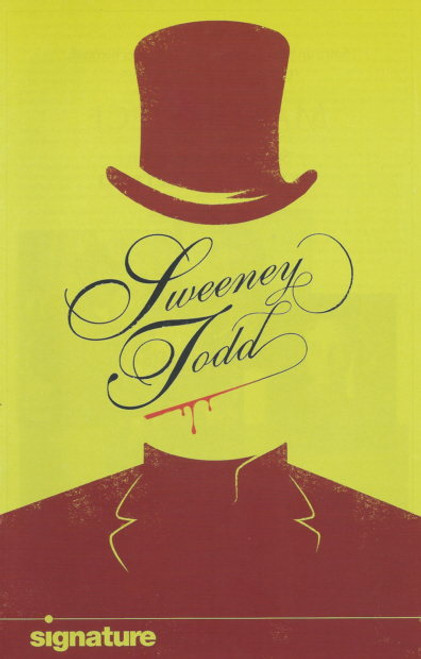 Sweeney Todd 2010  (Musical) Ed Gero and Sherri L Edelen, Souvenir Brochure  1998  Signature theatre Production