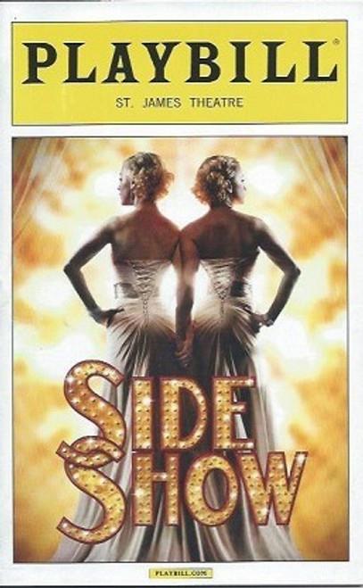 Side Show (Nov 2014), Erin Davie, Emily Padgett, Matthew Hydzik St James Theatre, Broadway Playbills