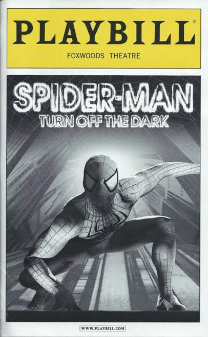 Spider-Man Turn Off The Dark (Musical) Playbill Sept 2012, Reeve Carney, Robert Cuccioli, Rebecca Faulkenberry– On Broadway, Spider-Man Memorabilia, Spider-Man on Broadway