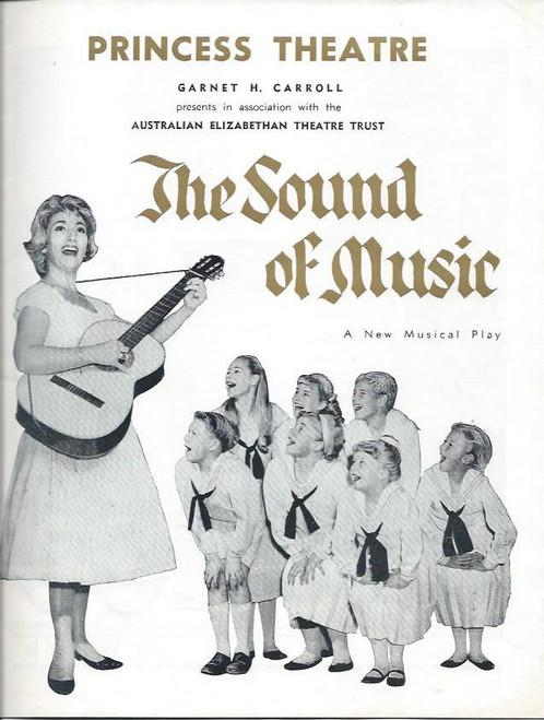 The Sound of Music  (Musical) June Bronhill, Peter Graves, Rosina Raisbeck Australian Production Melbourne Season, Souvenir Program 1961 Princess Theatre