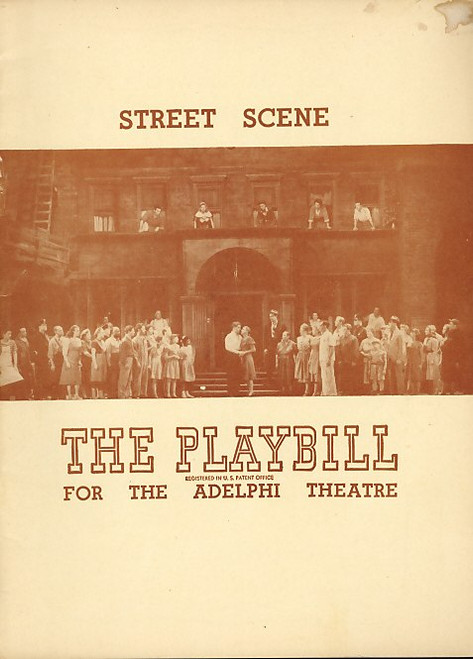 Street Scene (Musical), Norman Cordon, Anne Jeffereys, Polyna Stoska, Brian Sullivan - 1947 Broadway Production