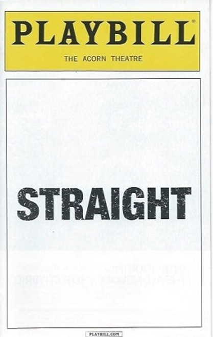 Straight, Jake Epstein, Jenna Gavigan, Thomas E Sullivan,  Playbill Feb 2016, Straight Playbill, Broadway Memorabilia, Broadway Programs