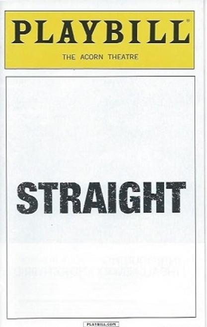 Straight, Jake Epstein, Jenna Gavigan, Thomas E Sullivan,  Playbill Feb 2016, Straight Playbill, Broadway Memorabilia, Broadway Programs
