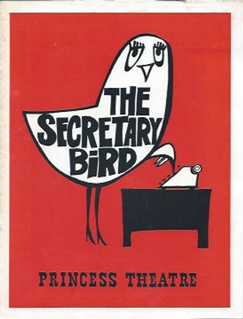 The Secretary Bird (Play) Patrick Macnee, Anne Charleston, Noel Trevarthen Comedy Theatre  Melbourne   Playbill / Program