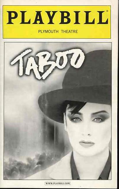 Taboo (Musical), Boy George,Sarah Uriarte Berry, Jeffery Carlson, Raul Esparza, Donnie R Keshawarz  - Broadway Production 2004. (Jan 2004)