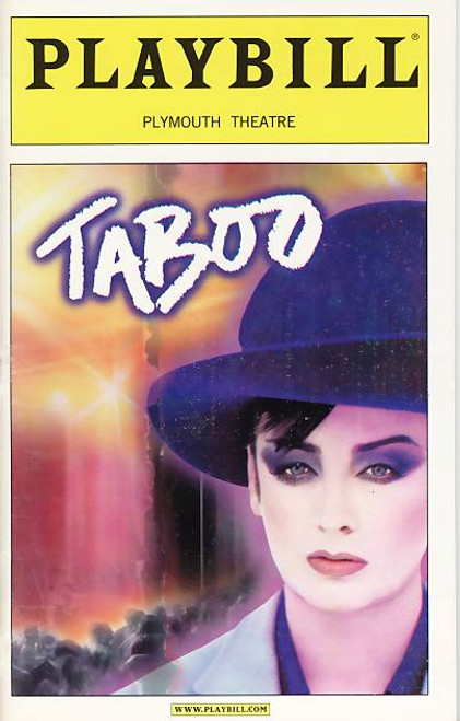 Taboo (Musical), Boy George,Sarah Uriarte Berry, Jeffery Carlson, Raul Esparza 2002 Plymouth Theatre