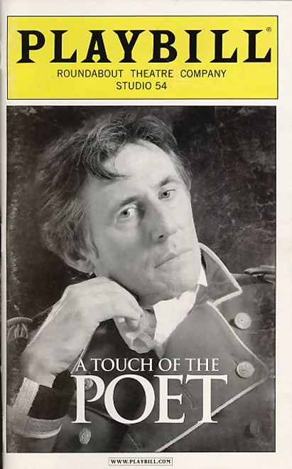 A Touch of the Poet (Play), Gabriel Byrne, Dearbhla Molloy Emily Bergl, John Horton,Byron Jennings, Kathryn Meisle, Studio 54, Broadway Playbills