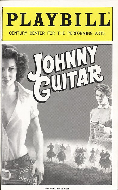 Johnny Guitar Based on the 1954 film starring Joan Crawford, Johnny Guitar the musical brings a rousing original score with the sounds of the 1950's lounge, western, and rock & roll music to the cult classic.
