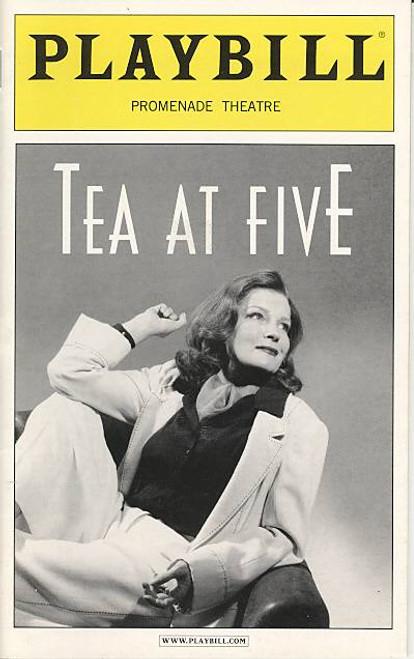 Tea at Five, Play, Broadway Plays, Broadway Memorabilia, written by Matthew Lombardo, Kate Mulgrew, Promenade Theatre