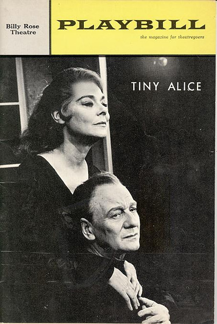 Tiny Alice (Play), John Gielgud, Irene Worth, Eric, John Heffernan, William Hutt (Feb 1965), Playbill