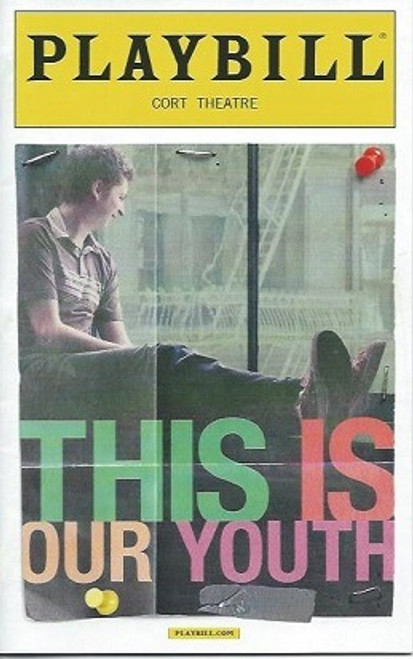 This is Our Youth, Cort Theatre, This is Our Youth playbill, Michael Cera, Kieran Culkin, Tavi Gevinson, Elise Kibler, Nick Lehane, Playbill Sept 2014