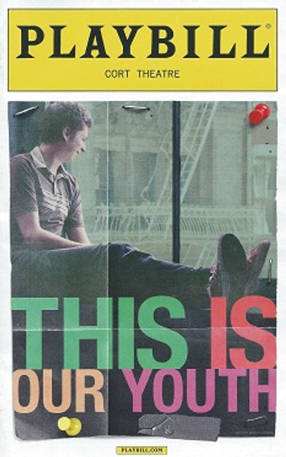 """This is Our Youth"" Cort Theatre, Playbill August 2014, Michael Cera, Kieran Culkin, Tavi Gevinson, Elise Kibler, Nick Lehane"