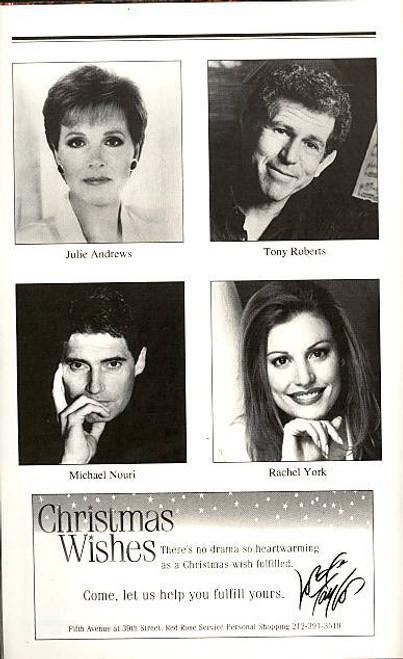 Victor Victoria (Musical),   Julie Andrews, Tony Roberts, Michael Nouri, Rachel York Marquis Theatre, Victor Victoria Playbill, OBC Playbill