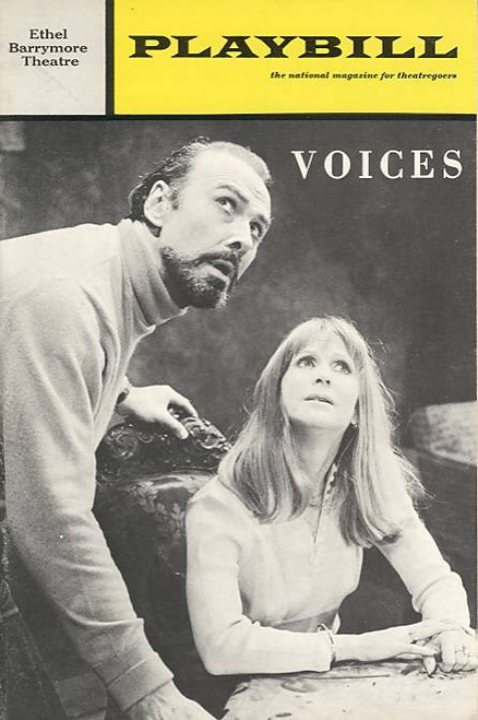 Voices (Play), Julie Harris, Richard Kiley Directed by Gilbert Cates Ethel Barrymore Theatre (Mar 1972), Voices Playbill