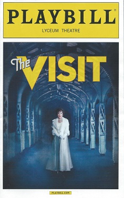 The Visit by Terrence McNally 2015 Season, Playbill April 2015 Lyceum Theatre, Chita Rivera, Roger Rees, Jason Danieley, David Garrison, Mary Beth Peil, George Abud, Matthew Deming, Dianna Dimarzio, Rick Holms, Tom Nelis, Chris Newcomer