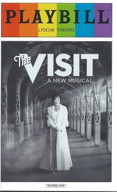 The Visit by Terrence McNally, June Pride Edition 2015 Season, Chita Rivera, Roger Rees, Jason Danieley, The Visit Playbill, David Garrison, Mary Beth Peil, George Abud, Matthew Deming, Dianna Dimarzio