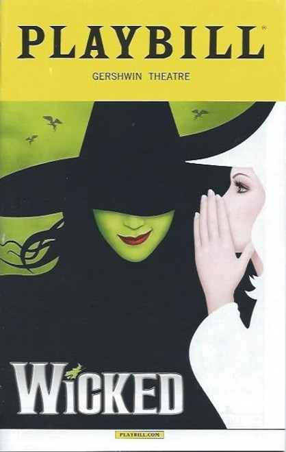 Wicked (Musical), Playbill Broadway – Sept 2016,  Jennifer DiNoia - Carrie St Louis, Michael Campayno, Wicked 2016, Wicked Memorabilia, Broadway Playbills