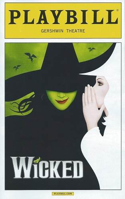 Wicked Broadway Playbill, Gershwin Theatre New York Sept 2015, Kara Lindsay, William Ryall, Sterling Masters, Kathy Santen, Rachel Tucker, Arielle Jacobs, Robin De Jesus, Michele Lee, Timothy Britten Parker, Jonah Platt, William Ryall, Fred Applegate, Gregory Haney