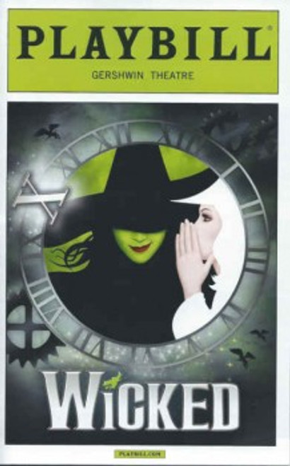 Wicked (Musical) 10th Anniversary October 2013 Lindsay, Alli Mauzey, Derek Klena, Playbill/ Program Clock face 10th Ann Gershwin Theatre
