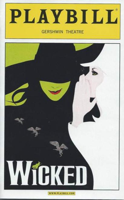 Wicked (Musical)  Playbill Oct 2012, Jackie Burns, Chandra Lee Schwartz, Kyle Dean Massey, Randy Danson, F. Michael Haynie– Gershwin Theatre