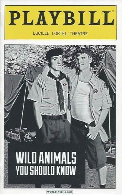 Wild Animals You Should Know (Play), Gideon Glick - Alice Ripley, Nov 2011 Playbill / Program Off Broadway, off broadway playbill, gay broadway