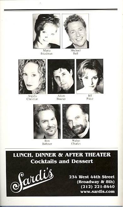 The Woman in White (Musical), Maria Friedman, Angela Christian, Adam Brazier, Jill Paice,  Marquis Theatre (Dec 2005), Andrew Lloyd webber, woman in white playbill