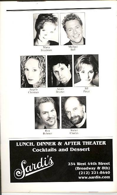 Woman in White (Musical), Maria Friedman, Michael Ball, Angela Christian, Adam Brazier, Marquis Theatre. (Jan 2006), Andrew Lloyd Webber, Woman in White Playbill