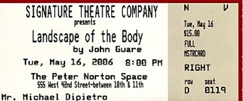 Landscape Of The Body: The play is episodic and non-linear, as it travels back and forth in time. The plot centers around a woman named Betty, whose son, Bert, was recently murdered and decapitated in lower Manhattan. The first and last scenes are the same.